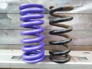 GL1800 Progressive Springs (Rear Old & New Shown)