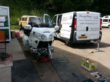 GL1800 Mobile Fork Service, South Wales Wingding July 2014